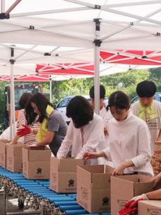 CJ第一制糖,进行2016希望分享礼盒组装服务活动