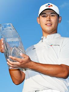 金时沅选手,在美巡赛球员锦标赛中夺冠