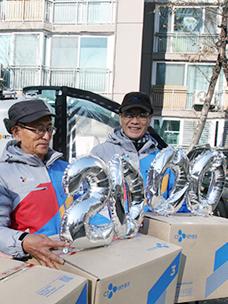CJ物流老年快递,累积送货量超过2000万箱。