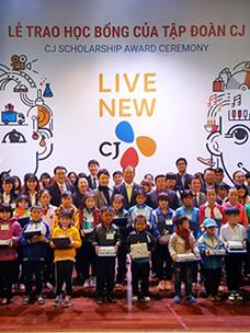 CJ集团,向越南贫困家庭青少年颁发奖学金
