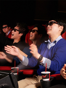 Viewers enjoying 4DX