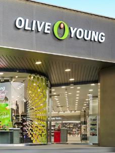 采用Olive Young新BI商标的实体店外观(Olive Young水枝店)