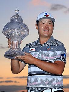 PGA本田精英赛获胜!!林盛载选手获胜采访